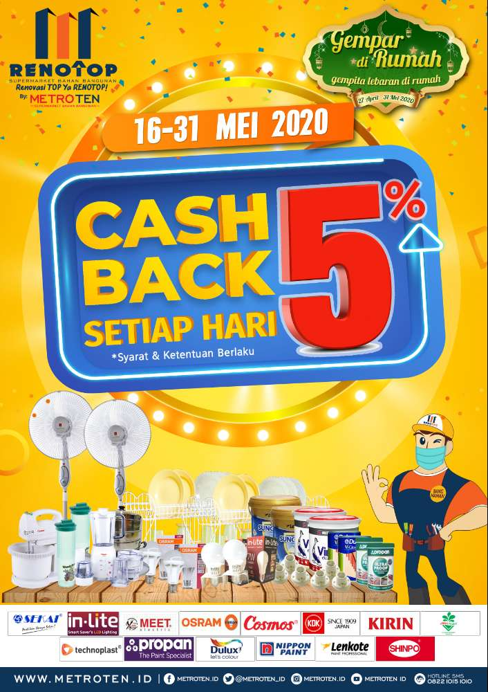 Image CASHBACK 5% ALL ITEM 16-31 MEI 2020