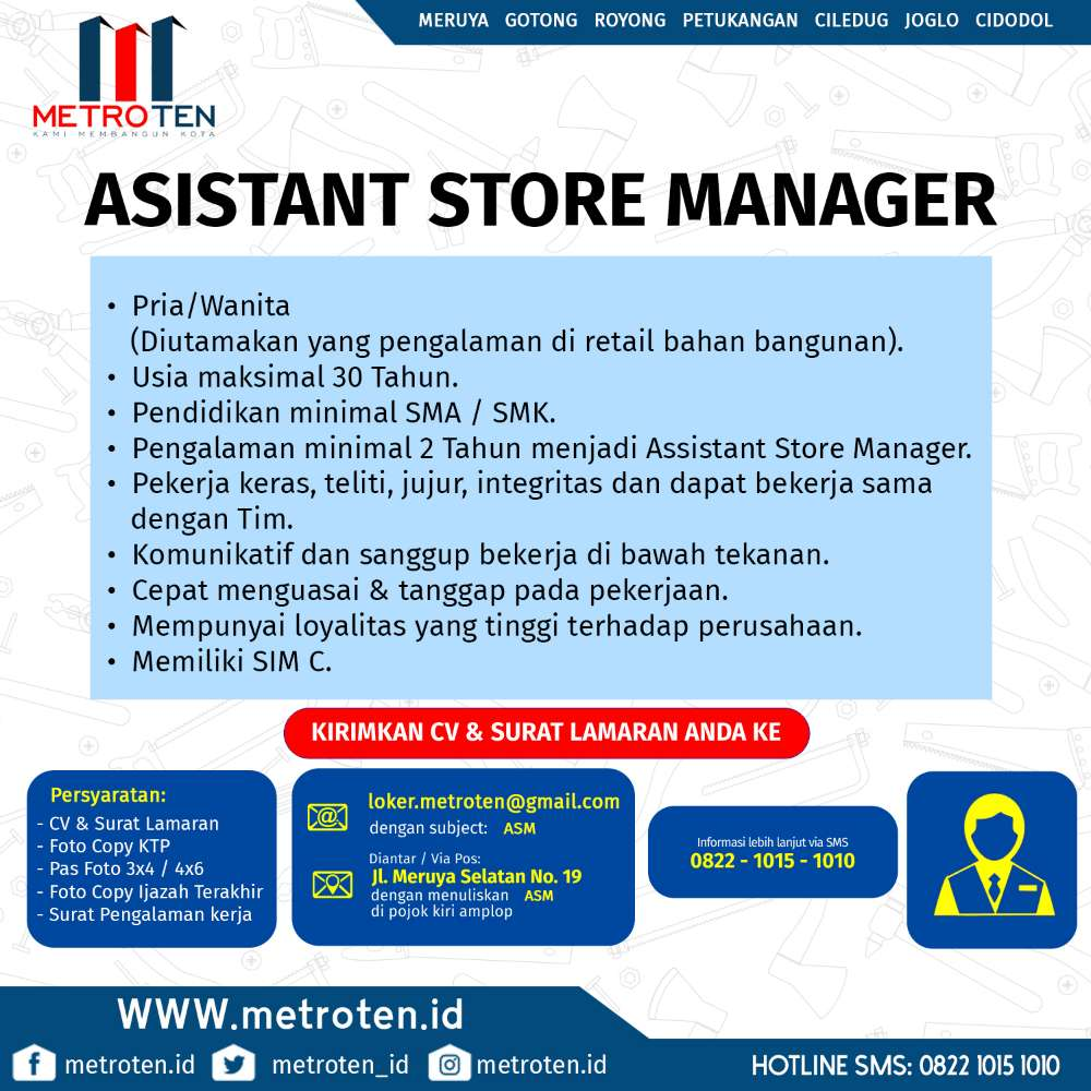 Image Lowongan Assistant Store manager