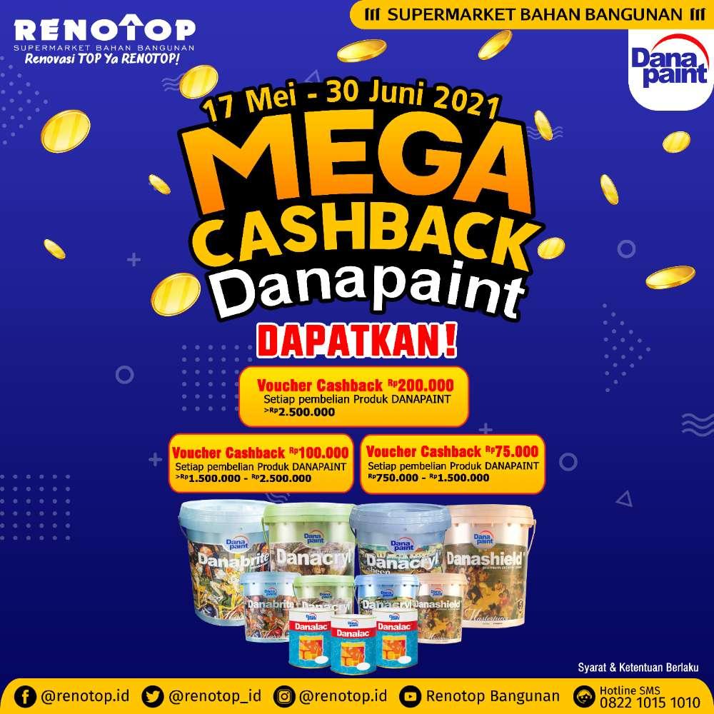 Image MEGA CASHBACK DANAPAINT DI RENOTOP BANGUNAN