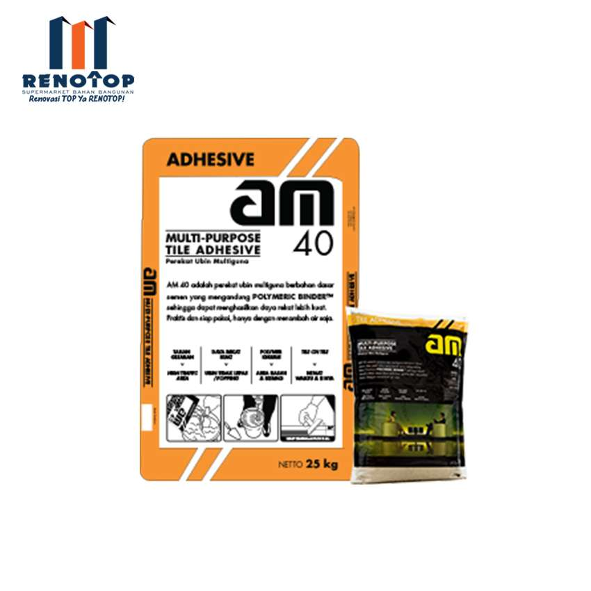 Image AM 40 GREY TILE ADHESIVE 25KG