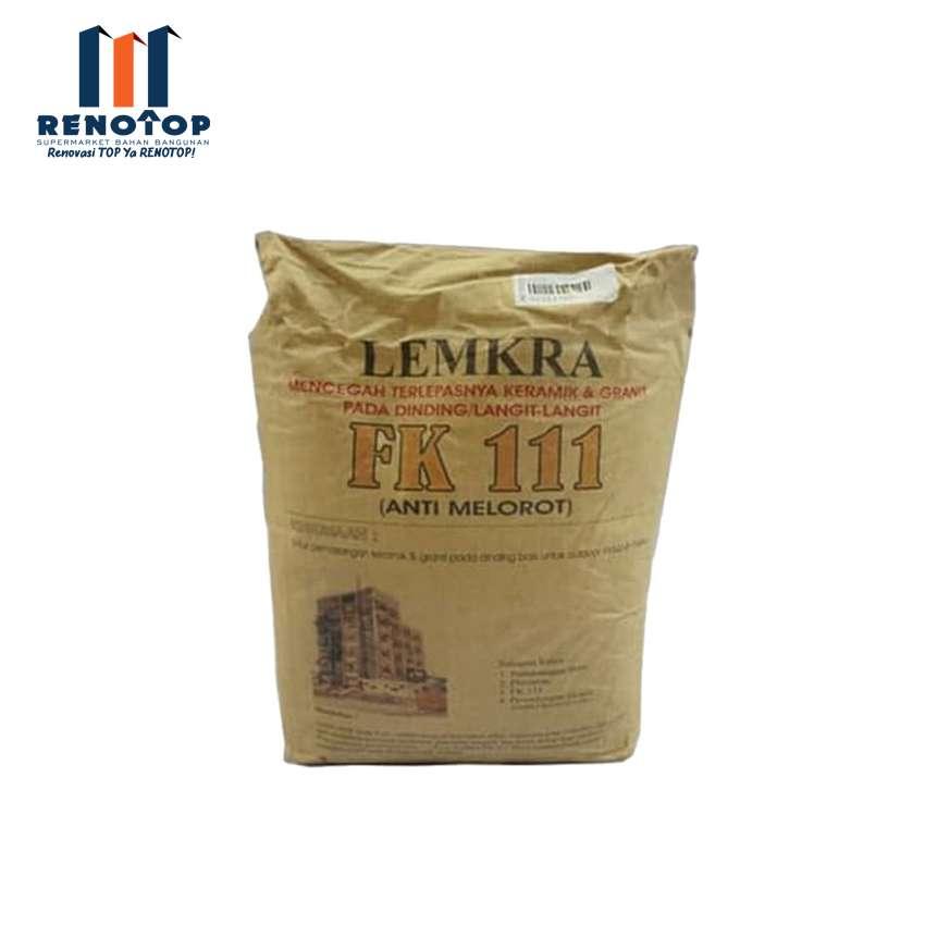 Image LEMKRA Perekat Keramik Dinding FK 111 Grey 5Kg Mortarflex