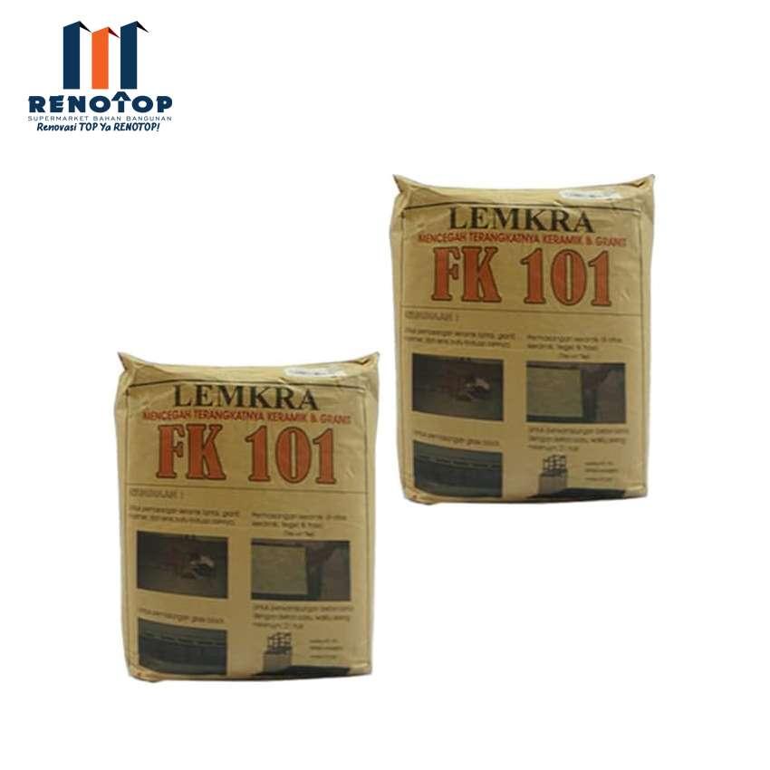 Image LEMKRA Perekat Keramik Lantai FK 101 Grey 5Kg Mortarflex