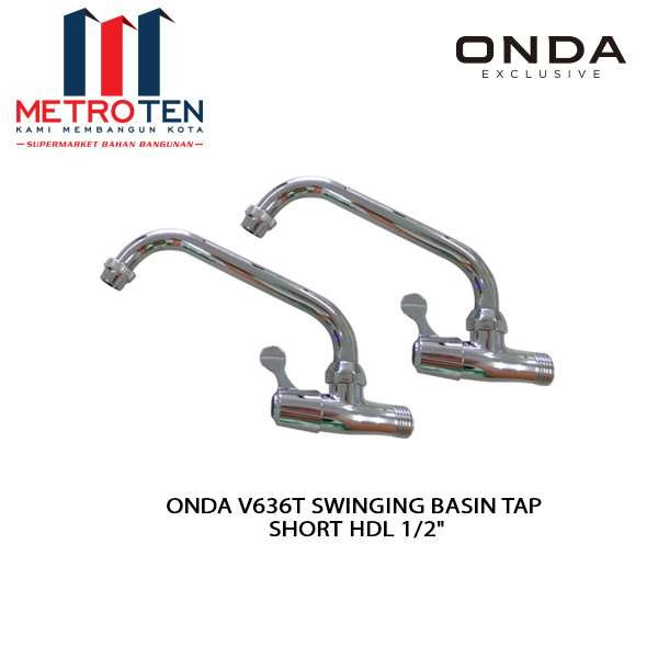 "ONDA V636T SWINGING BASIN TAP SHORT HDL 1/2"" photo"