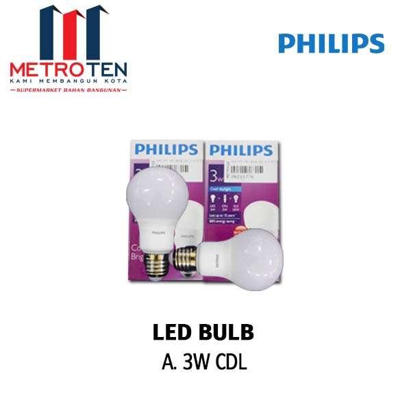 Image PHILIPS LED BULB CDL 3 W PCS