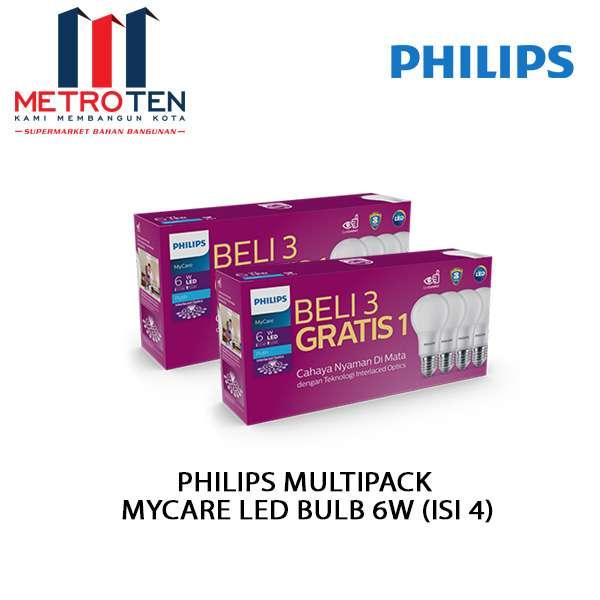 Image PHILIPS MULTIPACK MYCARE LED BULB 6W (ISI 4)