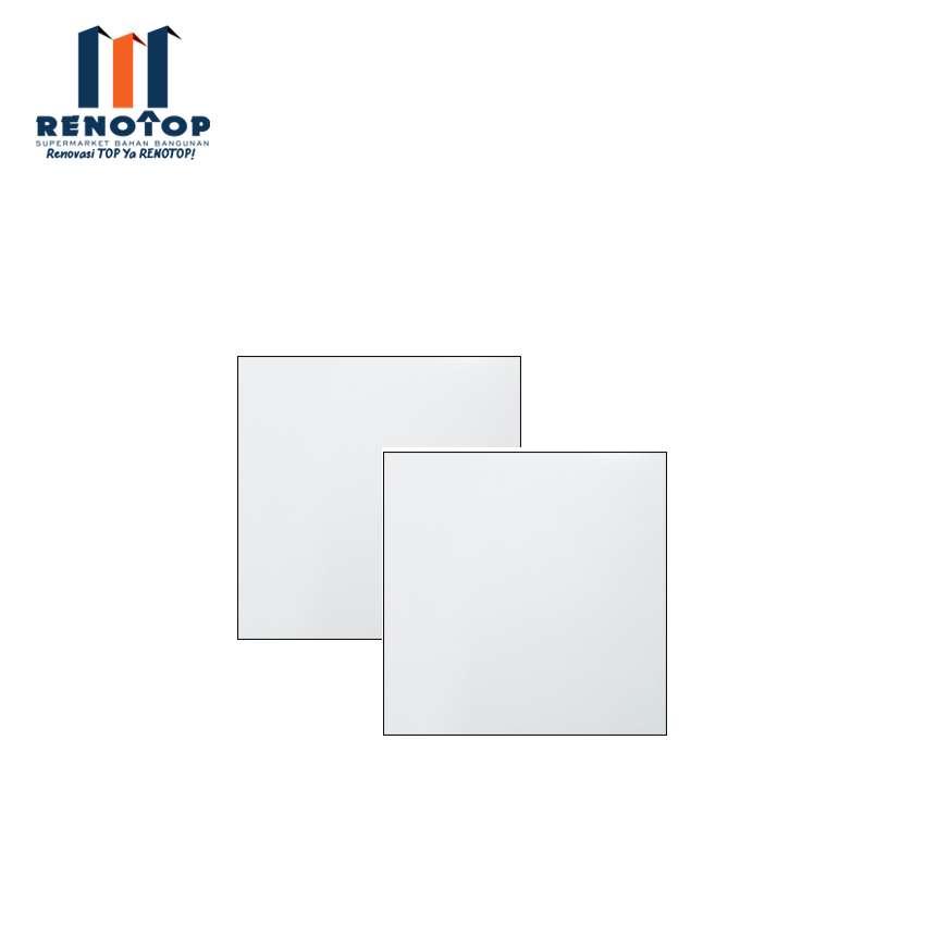 Image Picasso Keramik Lantai Cotton LWH 40x40 KW I Putih