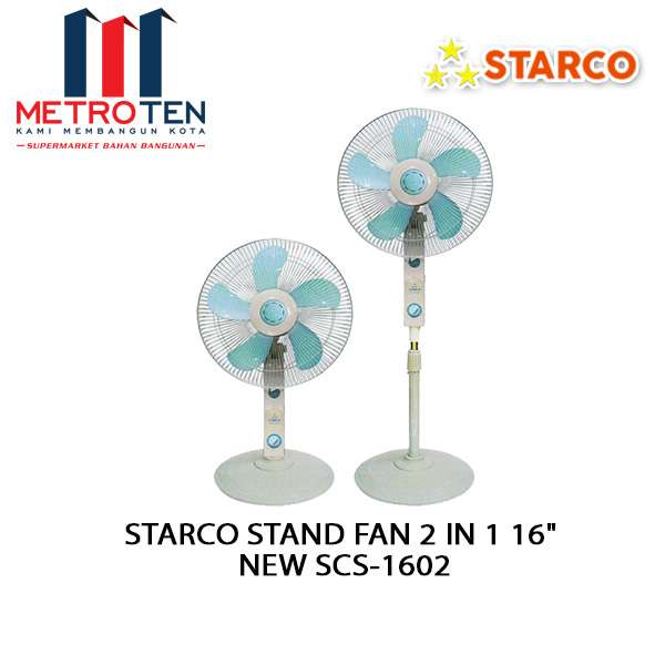 """Image STARCO STAND FAN 2 IN 1 16"""" NEW SCS-1602"""