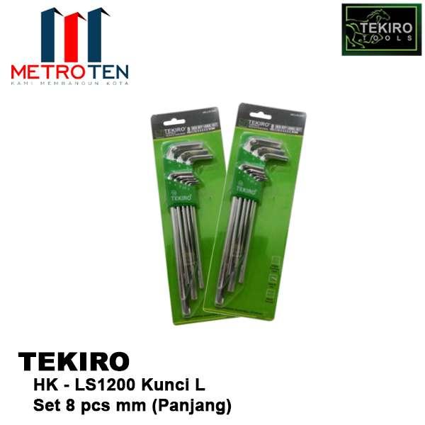 Image TEKIRO HK-LS1200 TKR KUNCI L SET 8 PCS MM (PANJANG)